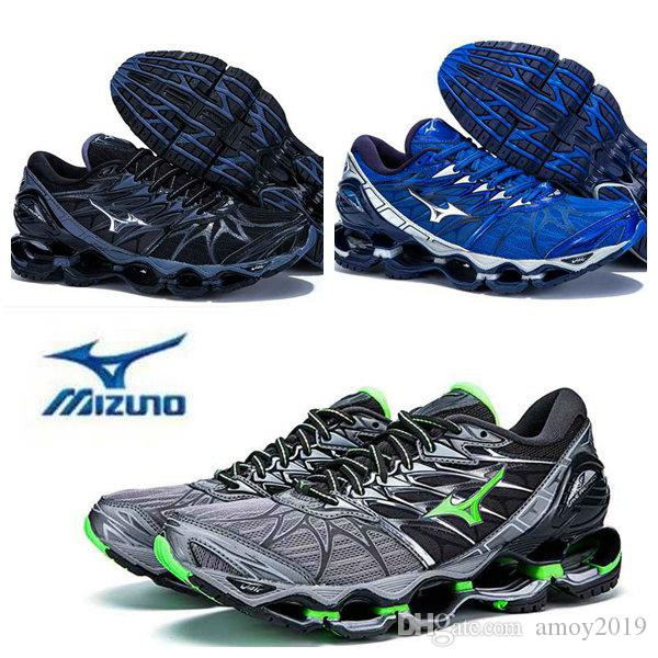 2866899f2183f4 2018 New Arrive Authentic MIZUNO WAVE PROPHECY 7 Men Designer Sports  Running Shoes Sneakers Mizunos 7s Casual Mens Trainers Size 40 45 Running  Shoes For ...