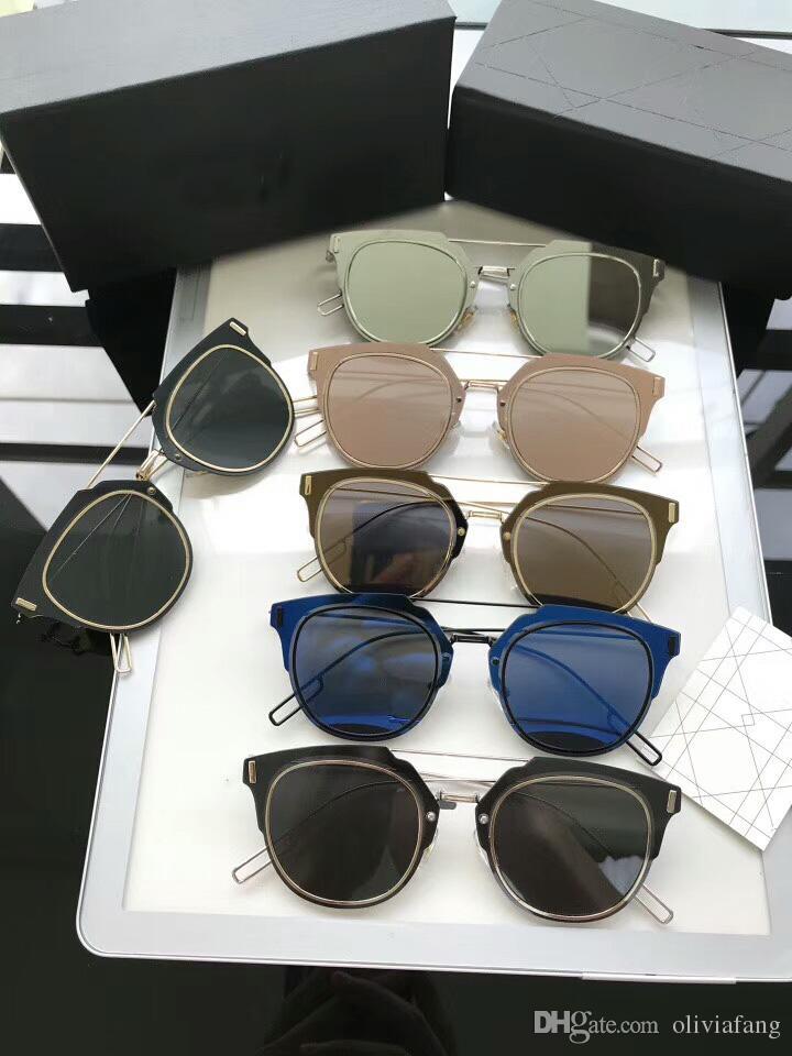 fbe1f8a056 Compre 2018 Moda De Verano Marca Diseño Gafas De Sol Para Mujeres HOMBRES  Anteojos Con Lente Lisa Protección UV Unisexy Gafas De Sol Mujer Hombre  Gafas HOT ...