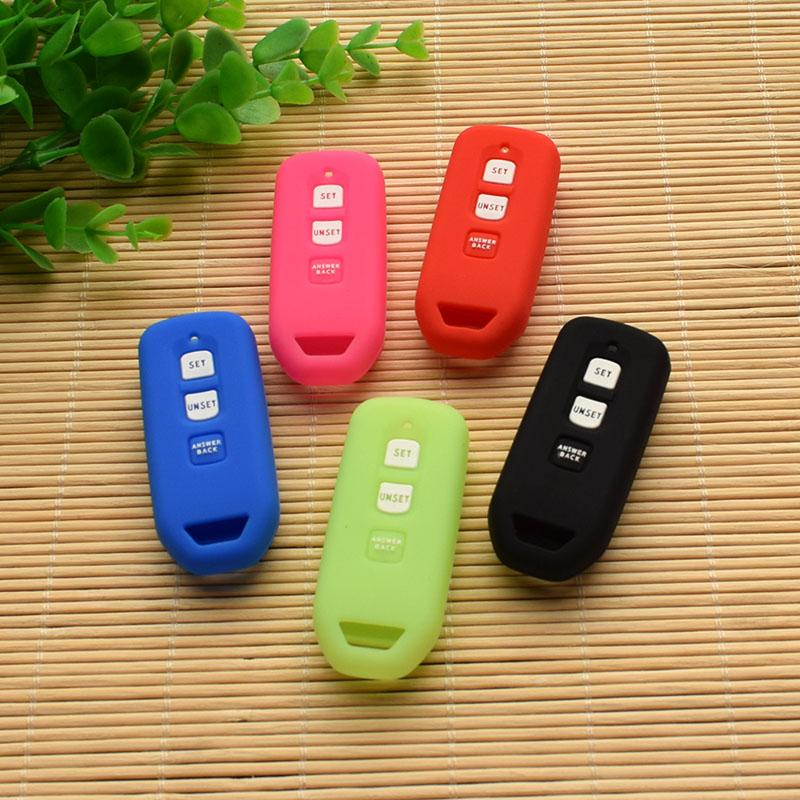 7609357a357 Silicone Rubber Key Cover Protected Cap Set Skin Holder For PCX 150  Motorcycle Remote Keychain Keyring Sticker Accessories Remote Car Key  Replacement Remote ...