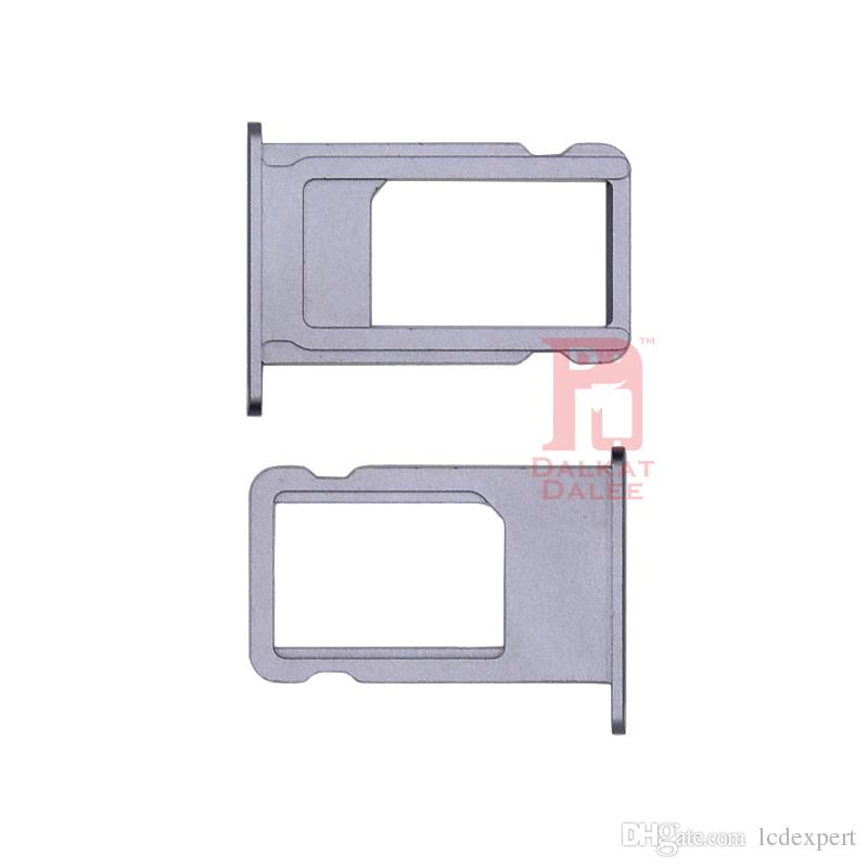For Iphone 6s Nano SIM Card Slot Tray Holder Replacement Adapter Kit Fix Parts for 6S 4.7 Inch Gray Gold Silver Rose
