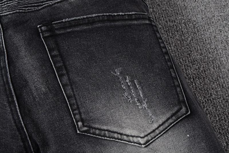 SS18 skinny slim fit lavato materiale di rivestimento di lusso denim jeans da uomo elastico bm8801 jeans designer splash inchiostro uomo jeans SZ28-40