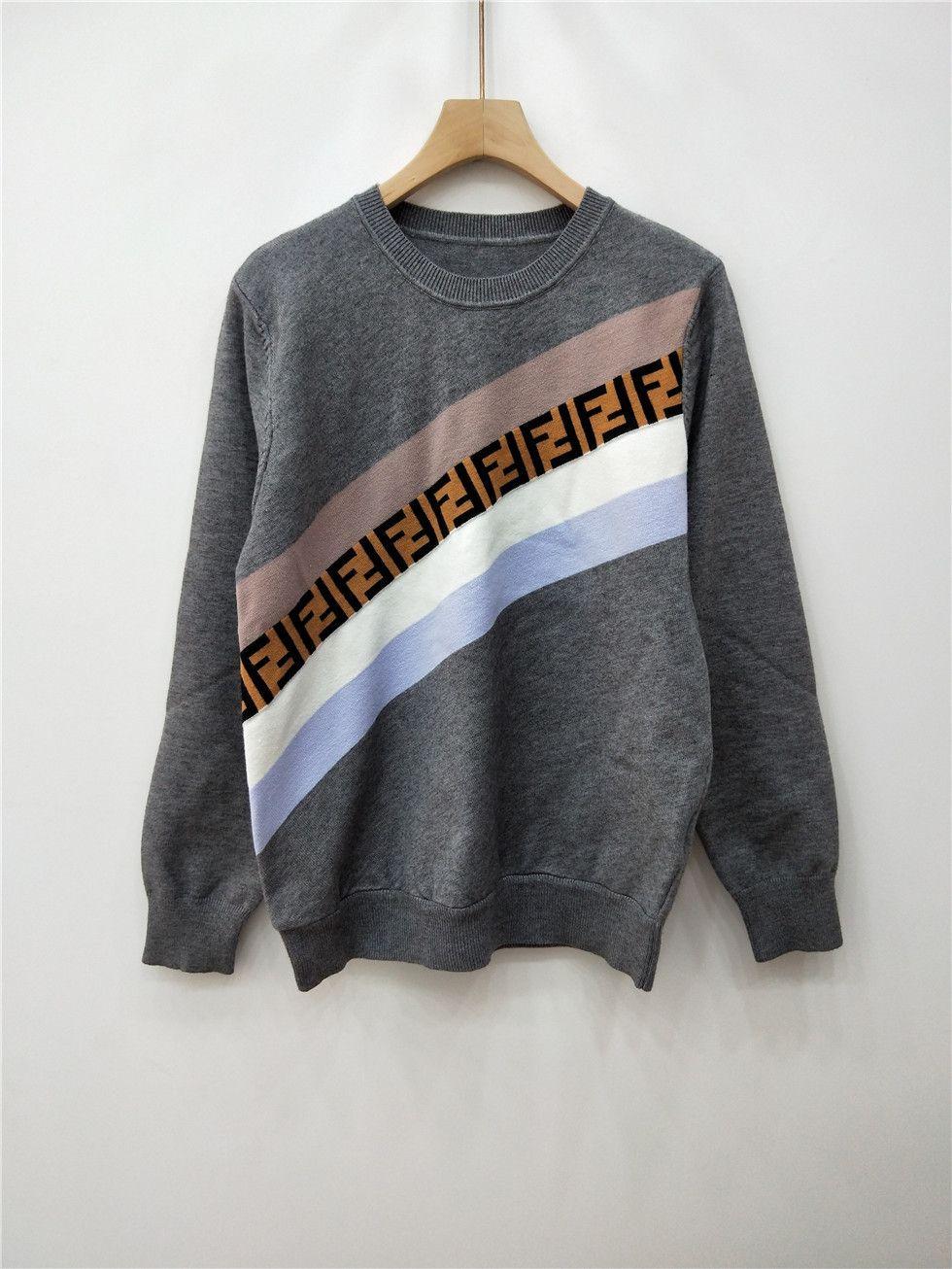 aa278bee9ec Compre Prendas De Punto Suéter Mujer F Rayas Intermitentes Carta De Color  Camisetas Manga De La Cabeza Chaqueta De Punto Blusas De Fondo Blusas De  Verano ...