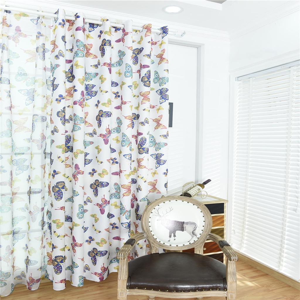 2018 100x250cm Door Window Curtain Eyelet Floral Room Drape Divider  Butterfly Bathroom Decorations Bath Curtains Brown From Igarden001, $37.74  | DHgate.Com