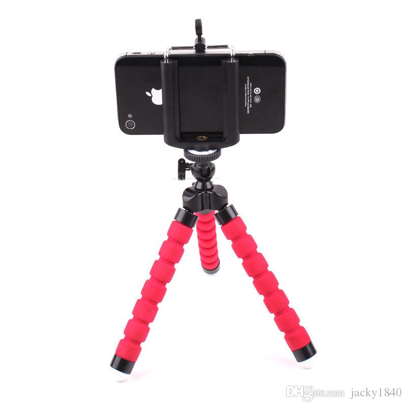 Adjustable Three Legs Stand Octopus Shape Cell Phone Holder for Mobile iPhone 6 7 7 Plus Camera