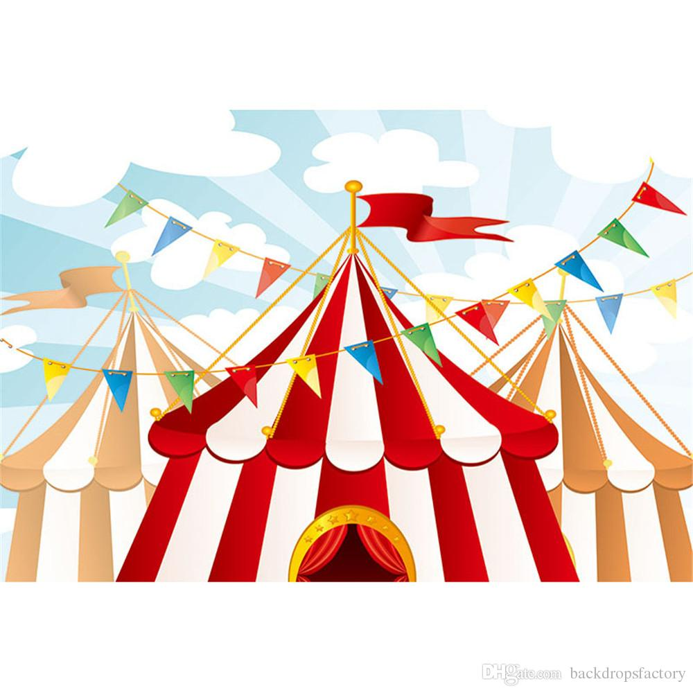 Baby Kids Circus Theme Birthday Party Backdrop Photography Printed ...