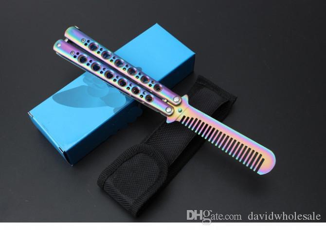 Training comb Training wholesaler CS karambit Butterfly Knife Folding pocket knife sharp blade knives tool camping gift knife