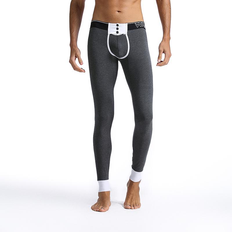 42e76f1b3 Warm Men Winter Thermal Underwear Long Johns Mens Fashion Slim Waist Sexy  Leggings Pouch Thermal Underwear Underpants
