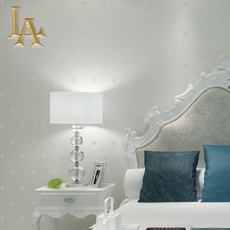 Einfache Europäischen Stil 3D Tapete Für Wände Decor Schlafzimmer  Wohnzimmer Non Woven Einfarbig Moderne Hause Tapetenrollen