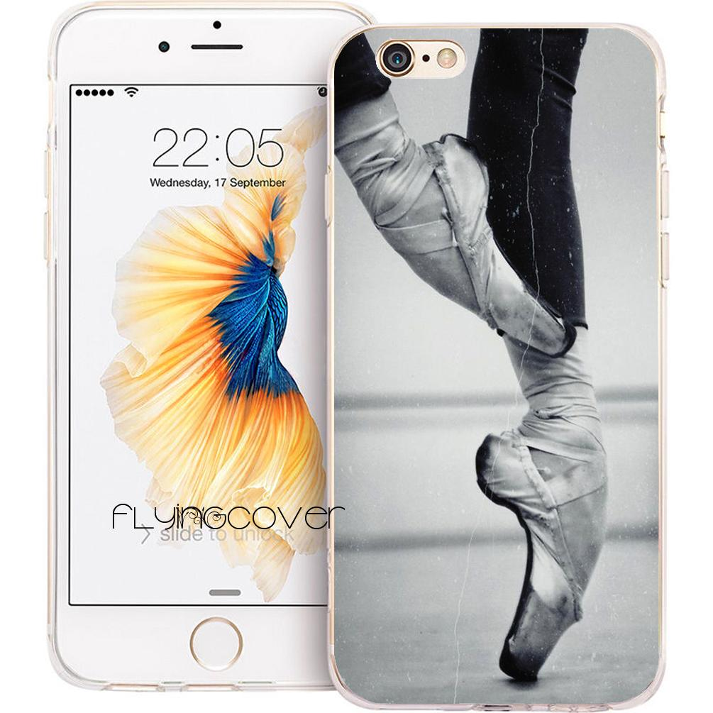 sports shoes 55050 07354 Ballerina Ballet Toe Dance Clear Soft TPU Silicone Phone Cover for iPhone X  7 8 Plus 5S 5 SE 6 6S Plus 5C 4S 4 iPod Touch 6 5 Cases.
