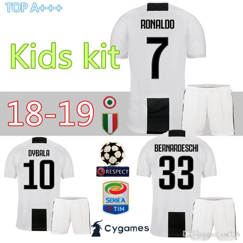 Compre Juventus Futebol Jersey Crianças 2018 19 Ronaldo Dybala Higuain  Pjanic Marchisio Criança 2018 2019 Camiseta De Futbol Camisa Uniformes Kits  De Cst726 ... 9988f3a798d34