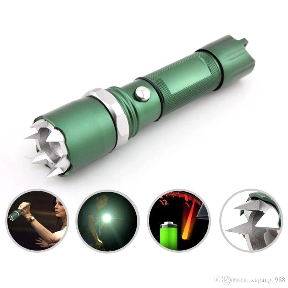 Zoomable Cree Q5 Flashlight torch Self-Defense Led Flash Light Outdoor Tactical Lamp Hunting Defensive 18650 AAA battery charger