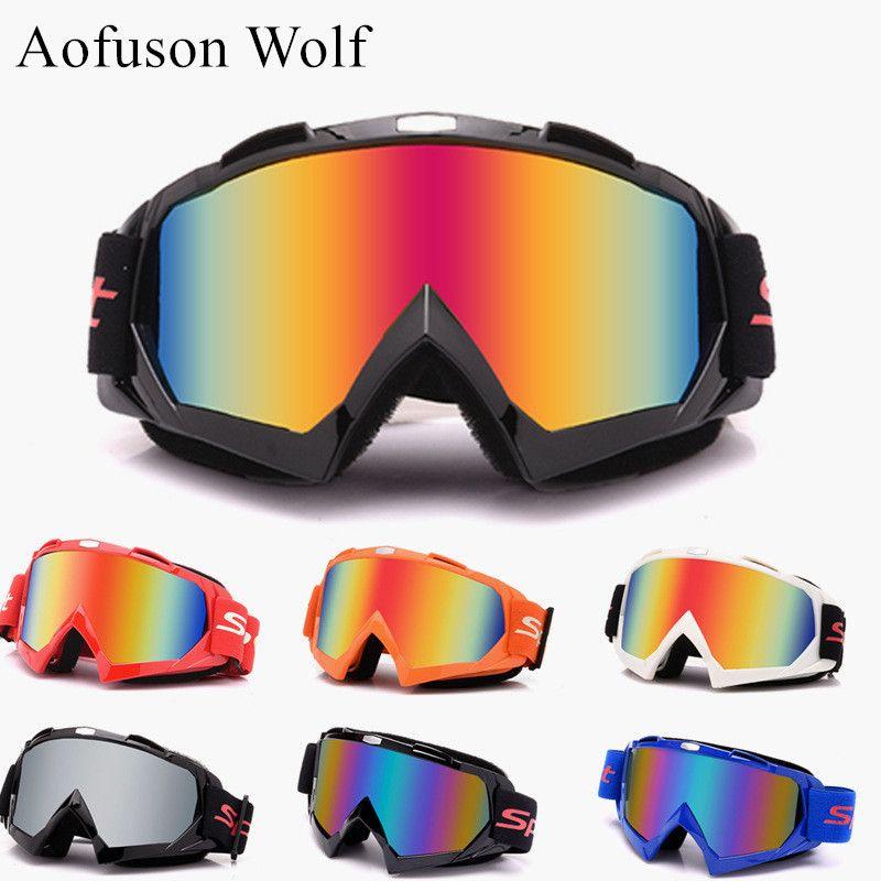 5b59c2f96176 Winter Ski Glasses UV400 Motorcycle Riding Goggles Women Men ...
