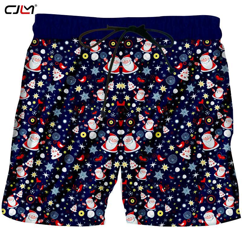 d3c859dca3 CJLM Il nuovo elenco Chistmas Pantaloncini da uomo stampati in 3D Lovely  Babbo Natale Harajuku Abbigliamento uomo colorato