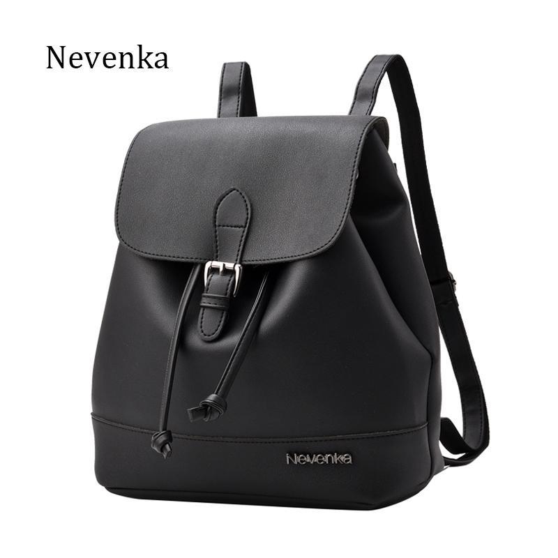 e4db4be4fff Nevenka Women Fashion Backpack Brand Design Backpacks PU Leather Shoulder  Bag Satchel School Bags Soft Sac 2018 New Y18110202 Small Backpack Backpack  Brands ...
