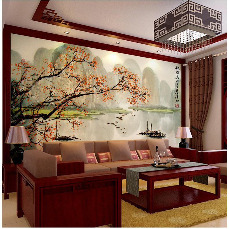 3D Photo Wallpaper Chinese Landscape Painting Living Room