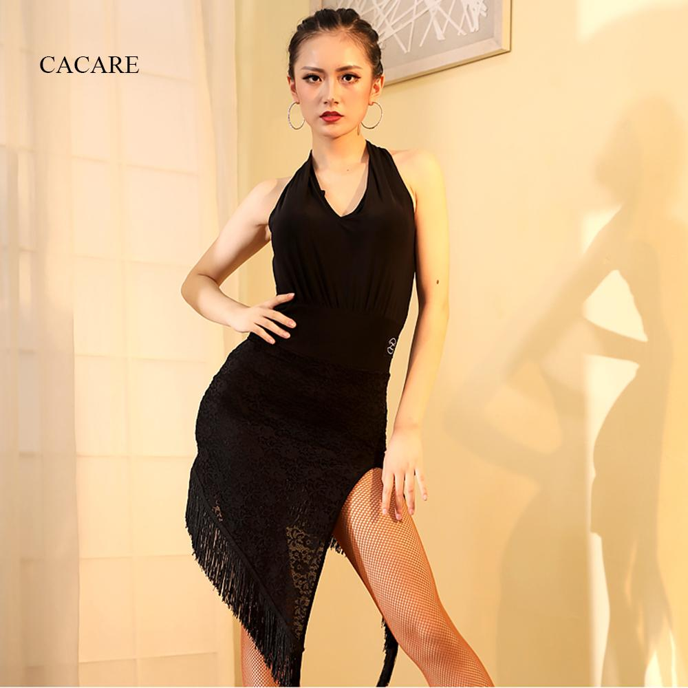 8b85493ec65d 2019 Flapper Dress Latin Dance Competition Dresses Women Latin Dance Dress  CHEAPEST D0434 Black With Split Lace Hem Tassel Halter From Beatricl, ...