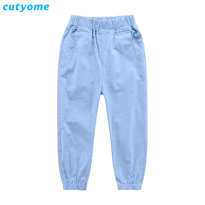 Cutyome Toddlers Kids Clothing Baby Boys Cargo Pants Spring and Autumn Cotton Linen Solid Casual Solid Pocket Children Trousers