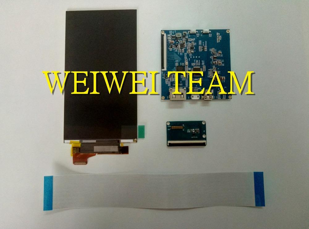 5 5 inch 2160*3840 4K LCD Screen HDMI to MIPI DIY CV1 Head Mounted PC for  DIY projector/3d printer /video projector