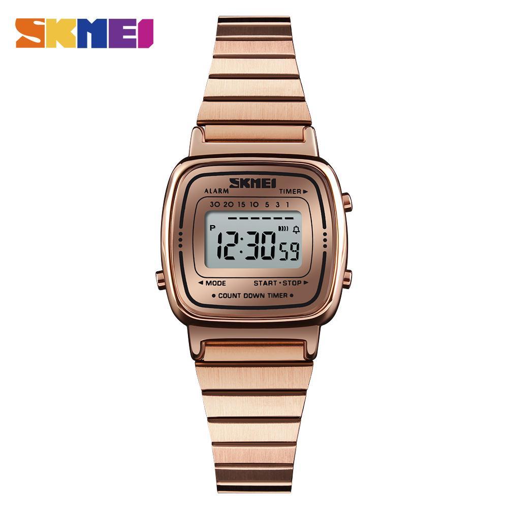 5c477547ac3 Compre SKMEI Mulheres Homens Esporte De Luxo Relógio Digital De Aço  Inoxidável Strap Masculino Relógio Feminino Relógios 12 24 Hora Moda Top  Amantes 1252 De ...