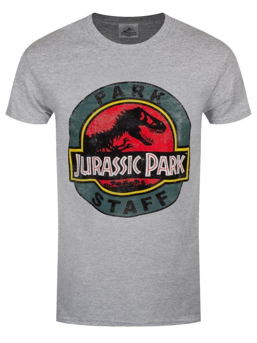 Grosshandel Jurassic Park T Shirt Mitarbeiter Logo Homme Gris Von
