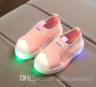 Kids Shoes With Light Boys Shoes 2017 Children Canvas Sport Led Girls Princess Shoes Baby Boys Sneakers EU Size