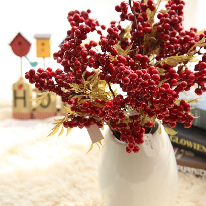 Großhandel Gefälschte Frucht Simulation Blumen Weihnachten Beeren ...
