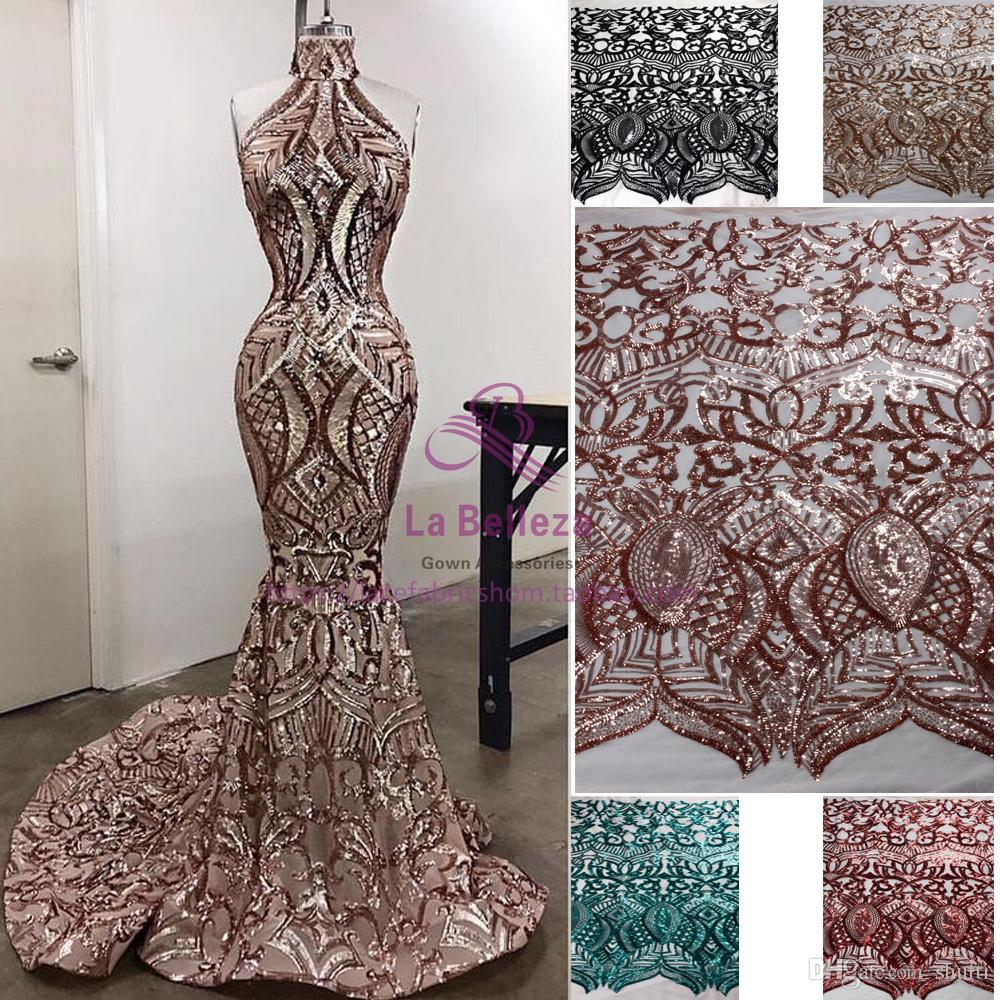 Arabian Dubai Luxurious Major Beading Mermaid Evening Dresses 2018 Sexy Sequins Halter Prom Dresses Long Vestidos De Festa Graduate Dresses