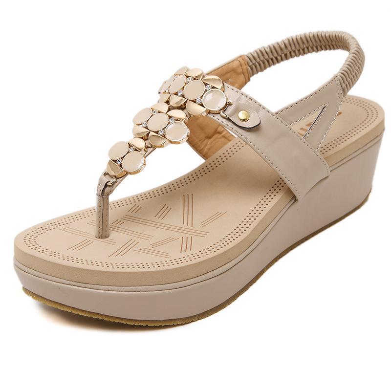 c1151cf460f0d 2018 Women Wedge Sandals Summer Beach Platform Sandals Fashion ...