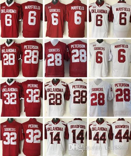 Mens NCAA Oklahoma Sooners Baker Mayfield College Football Jersey 28 ... e18c626d6