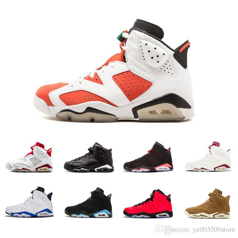 purchase cheap 0379e 62800 Acquista Nike Air Jordan Aj6 Nuovi 6 Carminio Scarpe Da Basket Classic 6s  UNC Nero Blu Bianco Infrarosso Low Chrome Uomo Sport Blu Rosso Oreo  Alternate Oreo ...