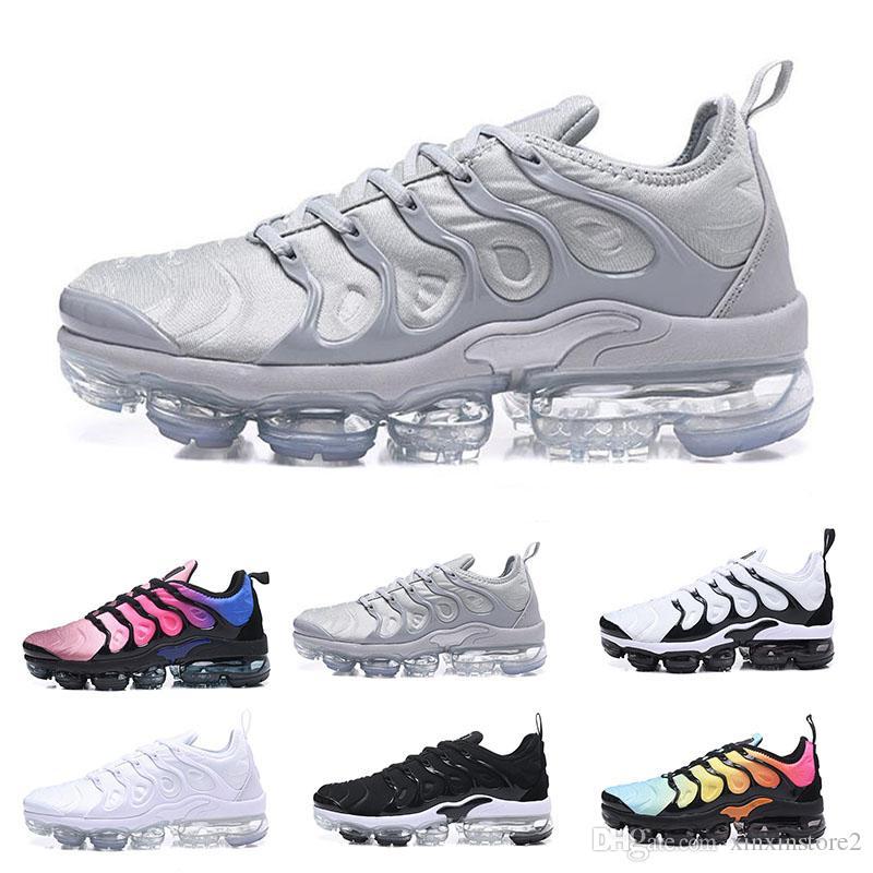 af41dd6305f Compre Nike Air Vapormax Plus 2018 TN Plus Azeitona Mens Esportes Tênis De  Corrida Tênis Homens Run Em Metálico Branco Prata Colorways Para O Macho  Sapato ...