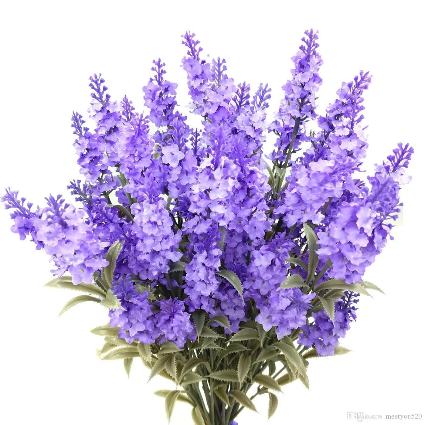 Compre Flores Artificiales De La Lavanda De La Seda Planta Plastica