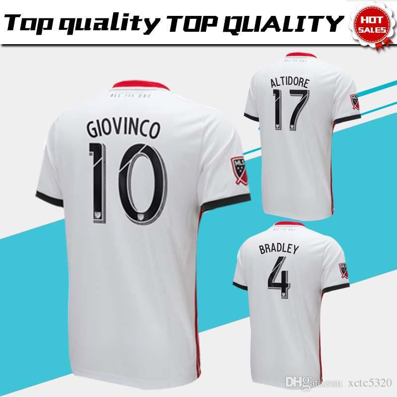 quality design fcb39 e0cb3 2019 Toronto FC Away Soccer Jersey 18/19 #10 GIOVINCO #4 BRADLEY #17  ALTIDORE White Soccer Shirt Customized MLS Football Uniform Sales