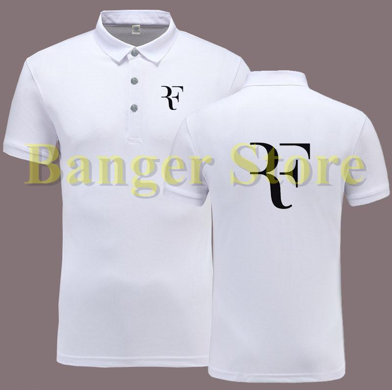 Roger Federer Rf Logo Polo Shirts Collared Shirt Buttons Dress Shirt Polo  Shirt For Women And Men Designer Polos Luxury Polos UK 2019 From Netecool b8efbd5fc8