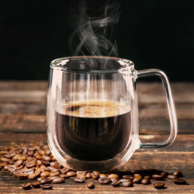 Wholesale 200ml Handmade Healthy Coffee Cups And Mugs Double Wall