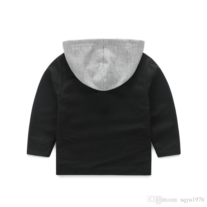 Spring children small boys sweater suit cotton long sleeved hooded skull child sportswear