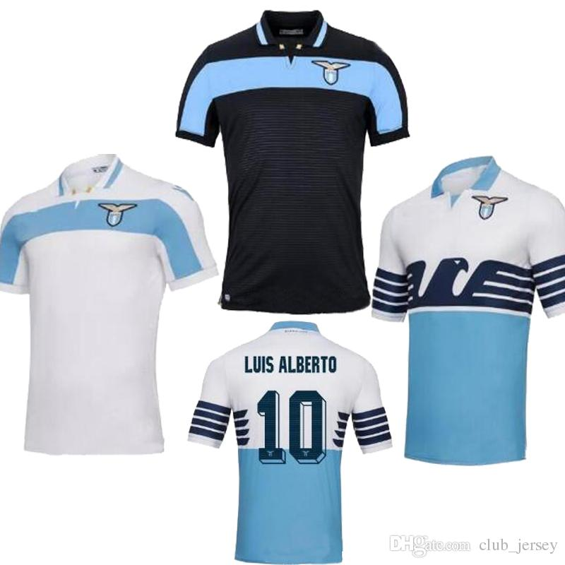b1bd1dcf62e 2019 2019 Lazio Soccer Jerseys 18 19 Thai Quality IMMOBILE Home Blue Away  White Black LUIS ALBRTO DJORD JEVIC KISHNA Football Shirt Jerseys From  Club jersey ...