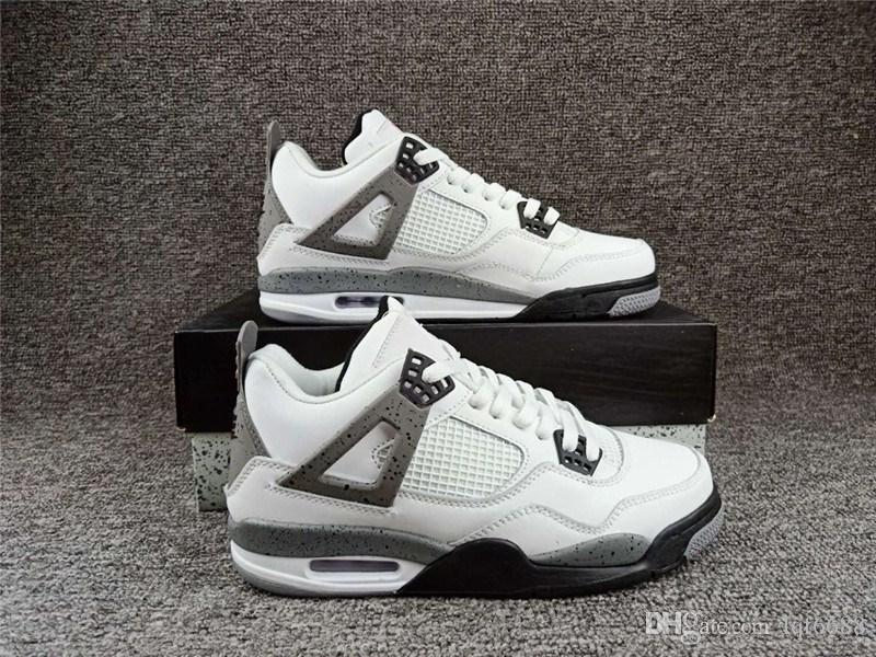 b6ee70a96cb3 2019 NRG Raptors 4S With Box Wholesale 4 White Cement Bred Fire Red IV 4s  Men Women Sneakers Sports Trainers SIZE 36 47 Sports Shoes Womens Shoes  From ...