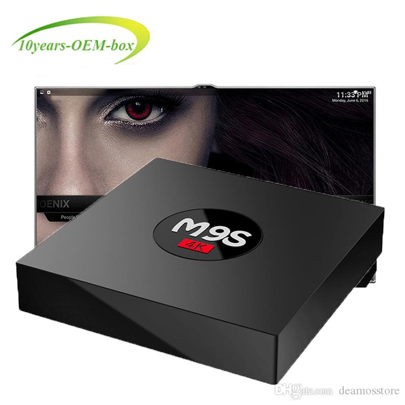 Box TV Android 6.0 Rockchip 3229 Smart Boxes Supporto quad core 4K Mini PC online M9S K3 V6