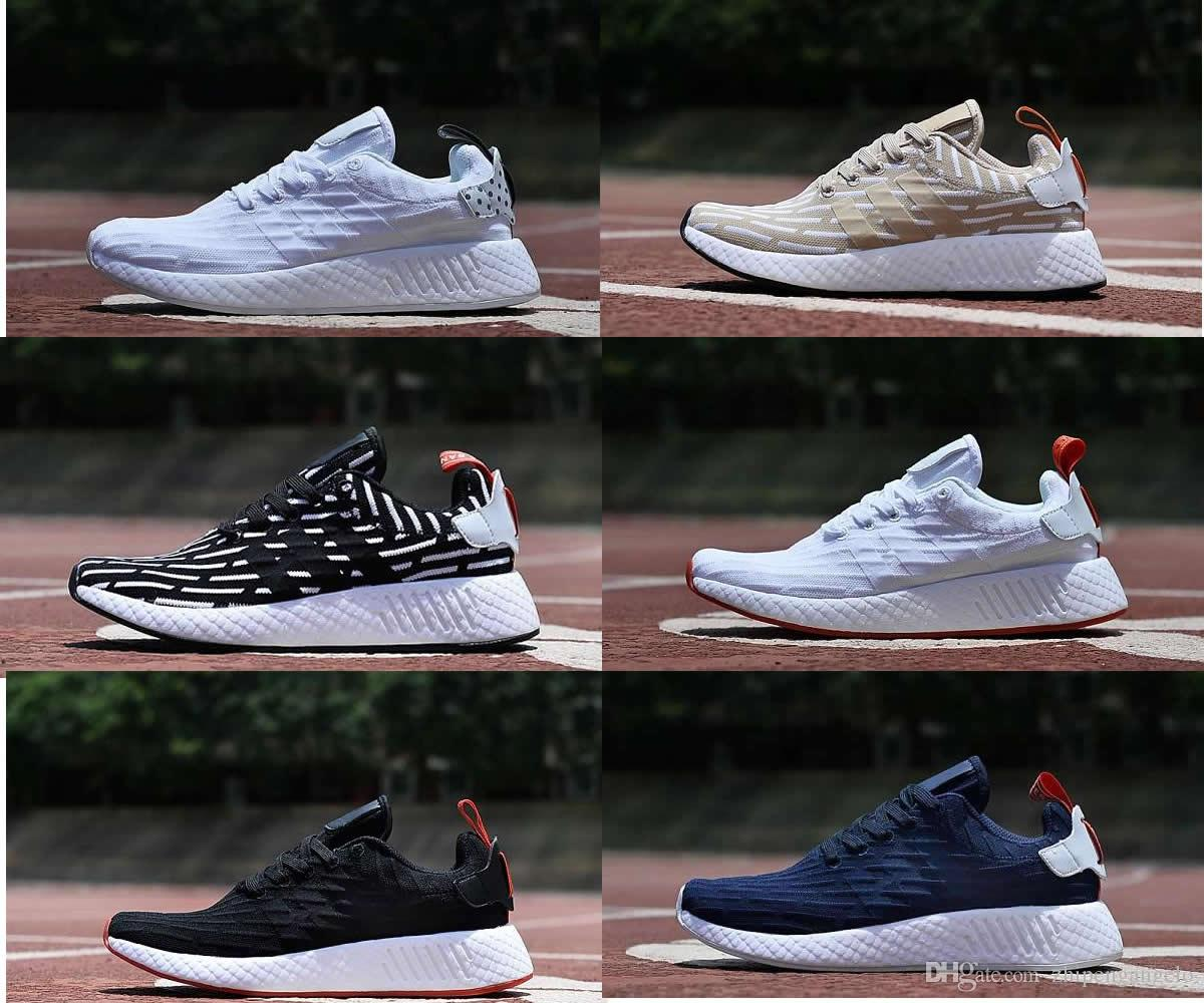 2018 New Original Nmd R2 Primekint Men & Women Running Shoes Sneakers Men Sports Nmd Mesh Triple Eur 36-46 Trainers Shoes Running Shoes Nmd R2 Nmd Shoes ...