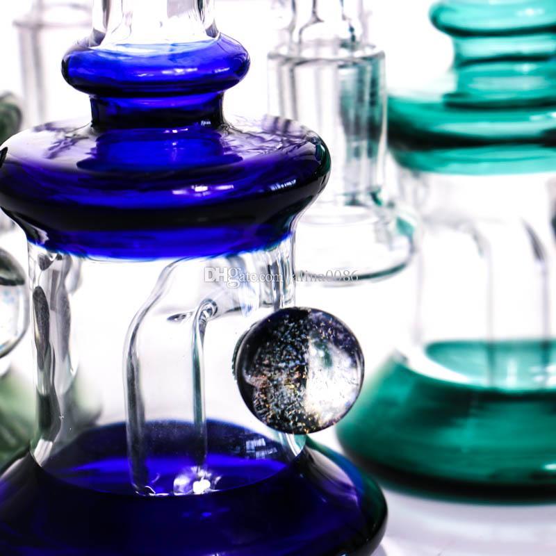 "6.7"" Glass Bong Water Pipes Colorful Bongs Heady Mini Pipe Dab Rigs Small Bubbler Hookahs Beaker Bong oil rig"