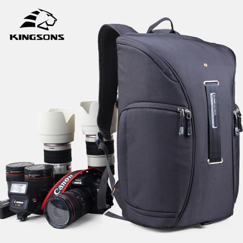 Kingsons Digital DSLR Photo Padded Waterproof Backpack Camera Video Soft  Bags Anti Impact Protection Lens Photography Backpack Rolling Backpack  Toddler ... 0abf58949599d