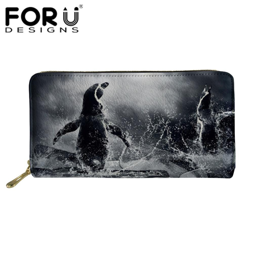 3f27dea253 FORUDESIGNS Penguin Printing Women S Purses And Wallets Female Travel Long  Wallets Card Purse Function Girls Cute Coin Holders Mens Front Pocket  Wallet ...