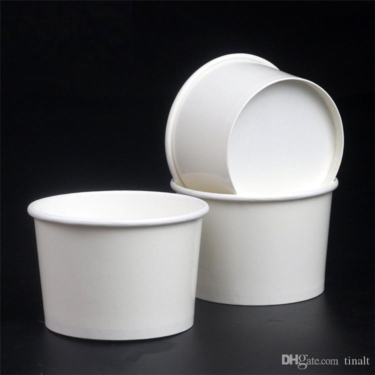 4 Oz Disposable Ice Cream White Paper cup food Paper bowl Snowsludge Cup Party Supplies T3I0274