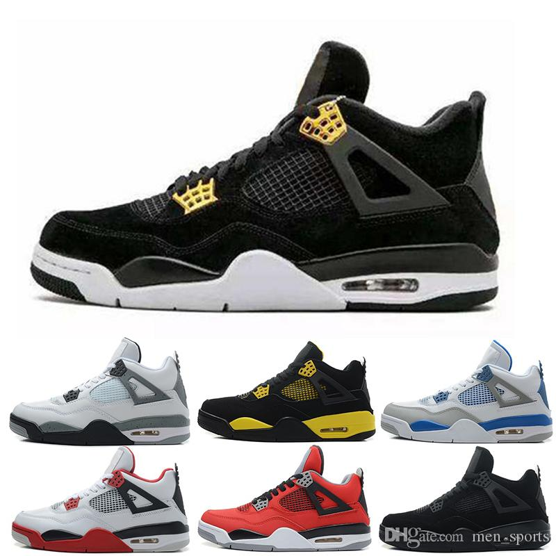 ac7f454e0049 2018 4 Pure Money Basketball Shoes Mens 4s BRED Royalty White Cement Sports  Sneakers Motorsport Outdoor Sports Sneakers Size 7-13 Basketball Shoes 4s  ...