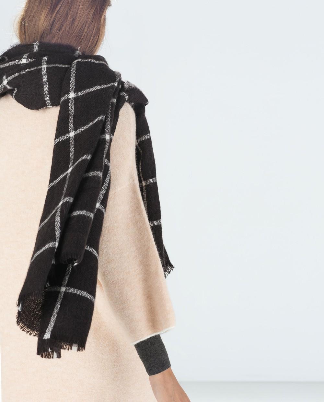 2018 женщин одеяло 195 см * 75 см новая леди черный белый плед уютный проверено тартан шарф обертывания Шаль Бесплатная доставка