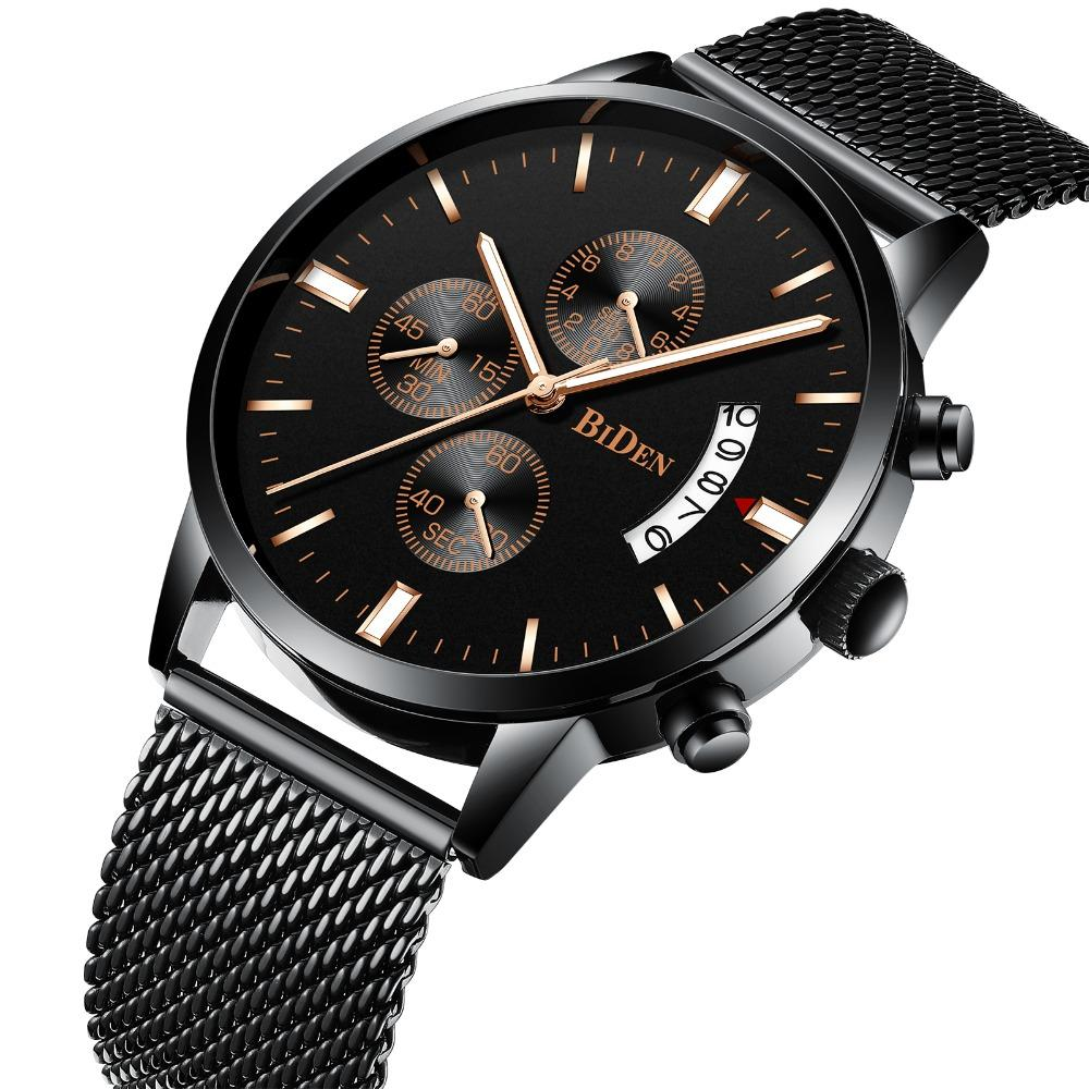 Quartz Watch Mens Stainless Steel Mesh Band Watches Mens Top Brand Fashion Bracelet Analog Wrist Watches Relogio Moderate Price Digital Watches