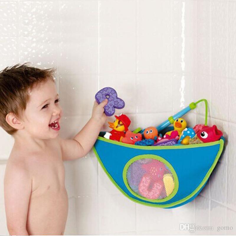 2018 Children Bath Toys Organizer Storage Bin Baby Bathroom Bag Kids ...