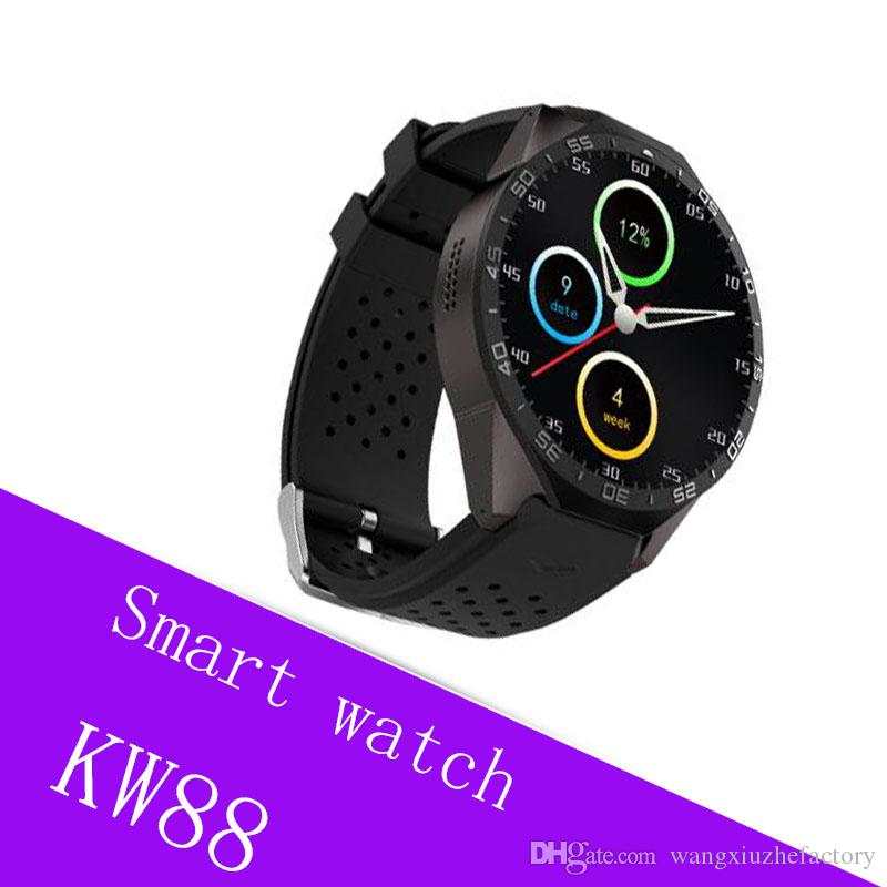 Kw88 android 5 1 OS Smart watch electronics android 1 39 inch mtk6580  SmartWatch phone support 3G wifi nano SIM WCDMA