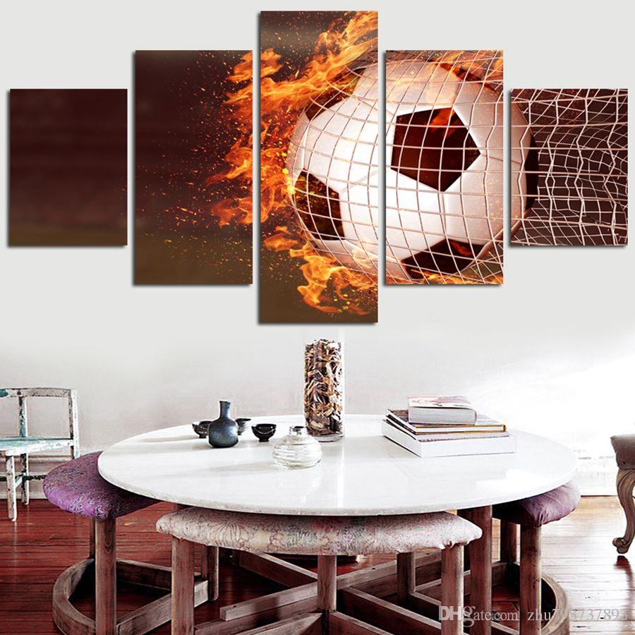 Wall Art Frame Football Abstract Painting Canvas Pictures Modular ...